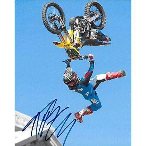 Jeremy ''Twitch'' Stenberg, Freestyle Motocross, Supercross, Signed, Autographed, 8X10 Photo, a COA with the Proof Photo of Twitch Signing Will Be Included.
