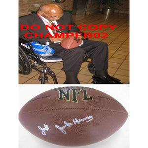 John Henry Johnson, San Francisco 49ers, Niners, Steelers, Signed, Autographed, NFL Football, a COA with the Proof Photo of John Signing Will Be Included, Very Rare