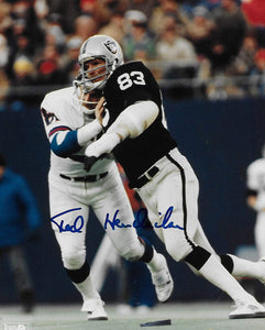 Ted Hendricks Oakland Raiders signed autographed football 8x10 football photo COA