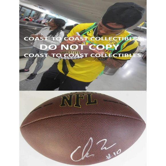 Chris Moore Baltimore Ravens, Cincinnati, Signed, Autographed, NFL Football, a COA with the Proof Photo of Chris Signing Will Be Included