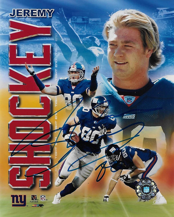 Jeremy Shockey New York Giants signed autographed 8x10 Photo, COA
