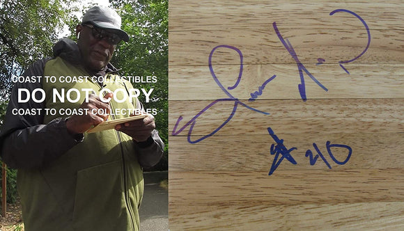 Shawn Kemp Seattle SuperSonics signed autographed basketball floorboard proof