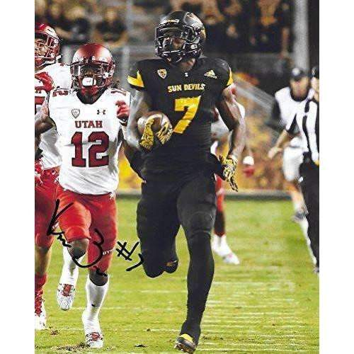 Kalen Ballage, Arizona State Sun Devils, ASU, Signed, Autographed, 8X10 Photo, a COA with the Proof Photo of Kalen Signing Will Be Included