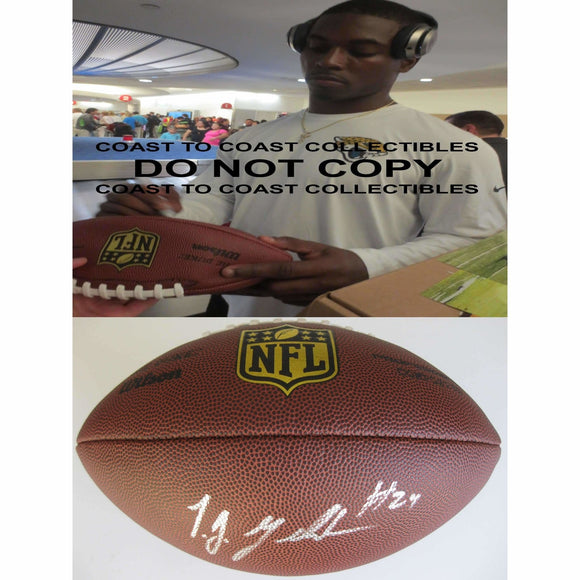 Tj Yeldon Jacksonville Jaguars, Alabama, Signed, Autographed, NFL Duke Football, a COA with the Proof Photo of Tj Signing Will Be Included