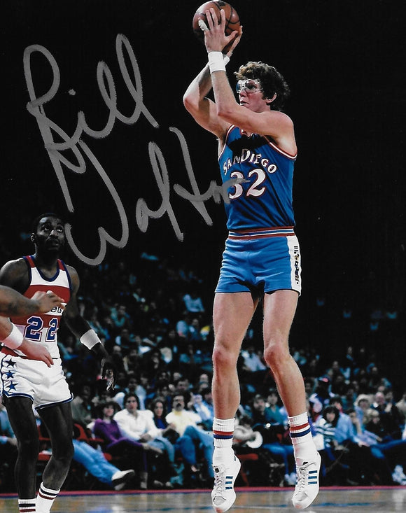 Bill Walton San Diego Clippers signed, autographed Basketball 8x10 photo, proof COA