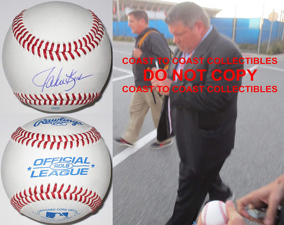John Kruk Philadelphia Phillies Padres signed autographed baseball COA proof