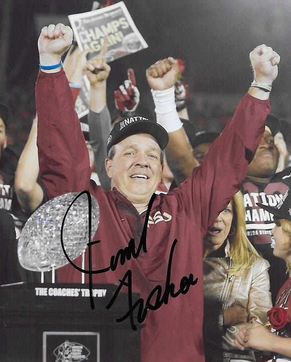 Jimbo Fisher Florida State Seminoles signed, autographed, 8x10 photo. proof COA