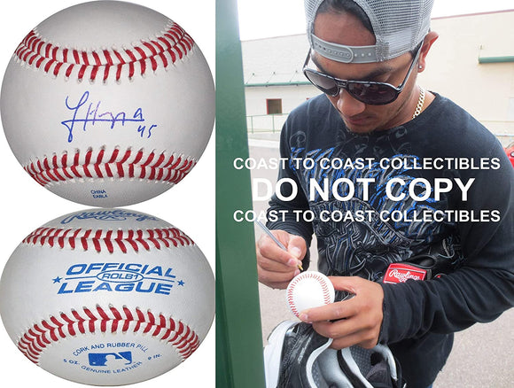 Jhoulys Chacin Boston Red Sox Rockies Brewers signed autographed baseball proof