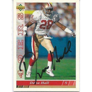 1993, Dana Hall, San Francisco 49ers, Signed, Autographed, Upper Deck Football Card, Card # 116,