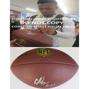 CJ Prosisie Seattle Seahawks, Notre Dame, Signed, Autographed, NFL Duke Football, a COA with the Proof Photo of CJ Signing Will Be Included with the Ball
