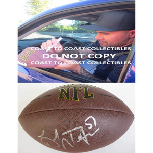 Lofa Tatupu Seattle Seahawks, USC Trojans, Signed, Autographed, NFL Football, a COA with the Proof Photo of Lofa Signing Will Be Included with the Ball