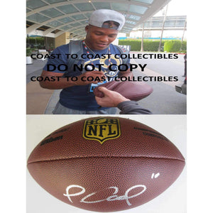 Pharoh Cooper, Los Angeles Rams, LA Rams, South Carolina, Signed, Autographed, NFL Duke Football, a COA with the Proof Photo of Pharoh Signing the Football Will Be Included..