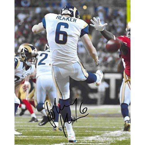 Johnny Hekker, Los Angeles Rams, Oregon State, Signed, Autographed, 8X10 Photo, a Coa with the Proof Photo of John Signing Will Be Included.,