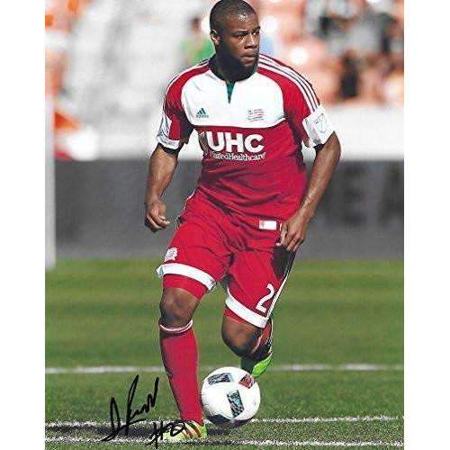 Andrew Farrell, New England Revolution, signed, autographed, 8x10 photo - COA and proof included