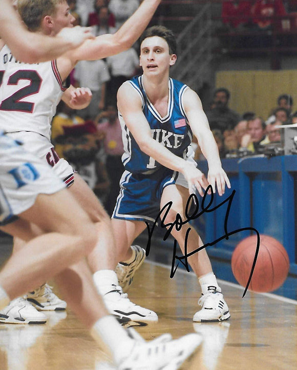 Bobby Hurley Duke Blue Devils signed, autographed, Basketball 8x10 photo. proof COA