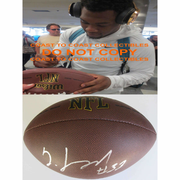 Jeremy Langford Chicago Bears, Michigan State, Signed, Autographed, NFL Football, a COA with the Proof Photo of Jeremy Signing the Football Will Be Included
