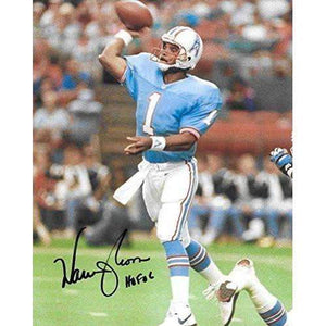 Warren Moon, Houston Oilers, Hall of Fame, Signed, Autographed, 8X10 Photo, a COA with the Proof Photo of Warren Signing Will Be Included=