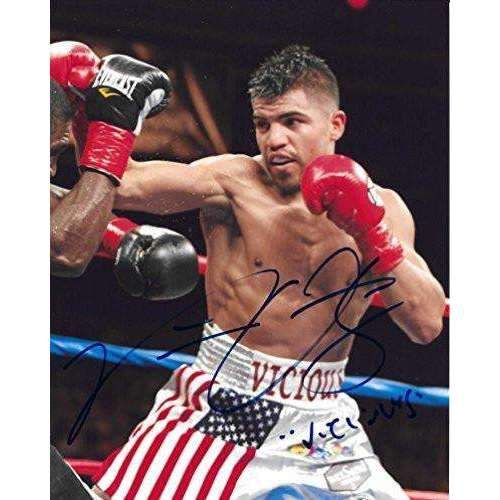 Victor Ortiz, WBC Boxing Champ, Signed, Autographed, 8X10 Photo, A COA With The Proof Photo of Victor Signing Will Be Included