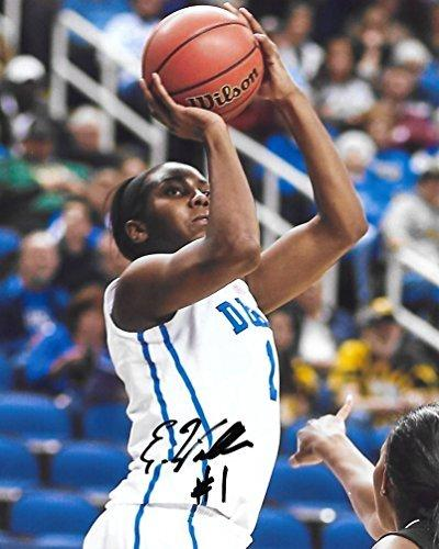 Elizabeth Williams, Duke Blue Devils, Atlanta Dream, Signed, Autographed, 8X10 Photo, a COA with the Proof Photo of Elizabeth Signing Will Be Included