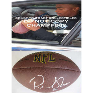 Rod Streater, Oakland Raiders, Temple, Signed, Autographed, NFL Football, a COA with the Proof Photo of Rod Signing the Football Will Be Included