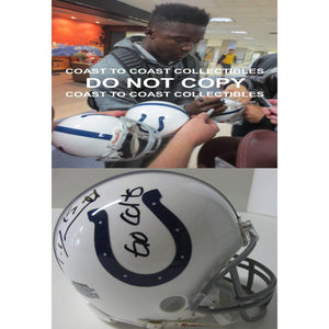 Phillip Dorsett Indianapolis Colts, Signed, Autographed, Mini Helmet, a COA with the Proof of Phillip Signing Will Be Included