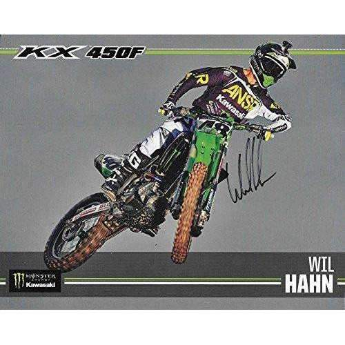 Wil Hahn, Supercross, Motocross, Signed, Autographed, 8X10 Photo, a COA Will Be Included