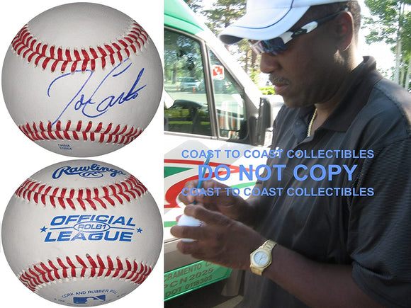 Joe Carter Toronto Blue Jays Indians signed autographed baseball COA exact proof