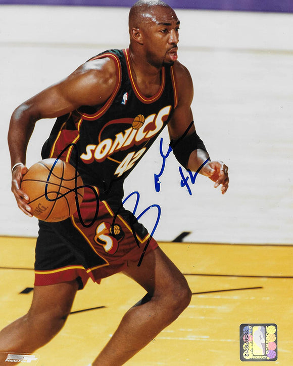 Vin Baker Seattle Supersonics signed basketball 8x10 photo COA