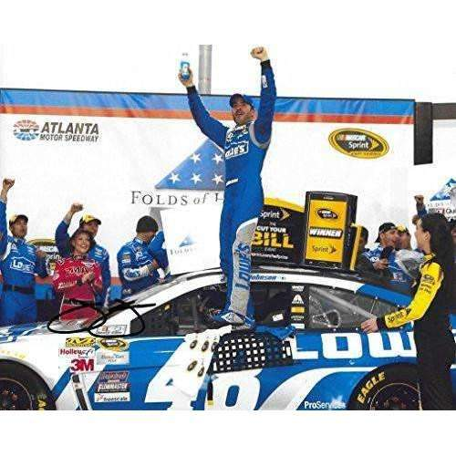 Jimmie Johnson, Nascar, No. 48, Lowe's Chevrolet for Hendrick Motorsports, Signed, Autographed, 8x10 Photo, a COA with the Proof Photo of Jimmie Signing Will Be Included,'