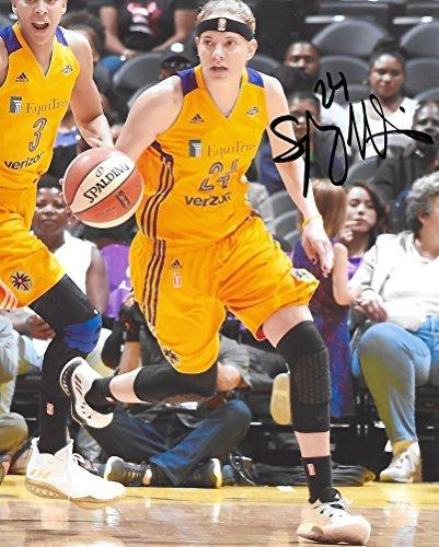 Sydney Wiese, LA Sparks, Oregon State Beavers, Signed, Autographed, 8X10 Photo, a COA with the Proof Photo of Sydney Signing Will Be Included