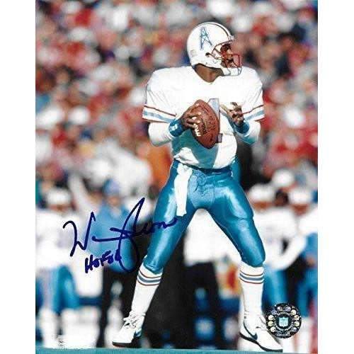 Warren Moon, Houston Oilers, Hall of Fame, Signed, Autographed, 8X10 Photo, a COA with the Proof Photo of Warren Signing Will Be Included.-