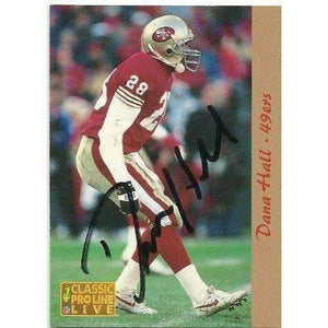 1993, Dana Hall, San Francisco 49ers, Signed, Autographed, Classic Football Card, Card # 245,