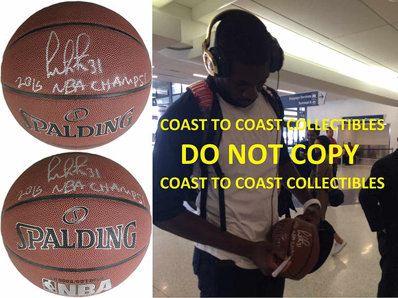 Festus Ezeli Golden State Warriors signed autographed NBA basketball COA proof
