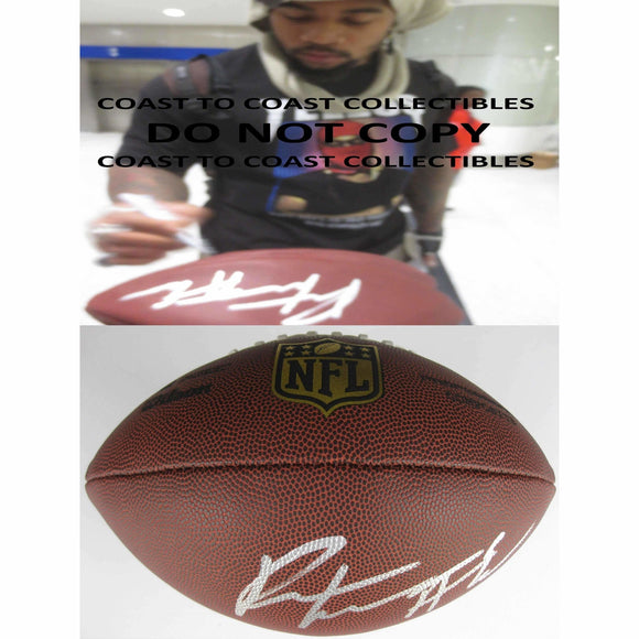 Robert Nkemdiche, Arizona Cardinals, Mississippi, Signed, Autographed, NFL Duke Football, a Coa with the Proof Photo of Robert Signing Will Be Included with the Football