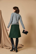 Load image into Gallery viewer, Grey Turtleneck with Button Cuff