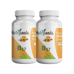 (2 Pack) Nutriseeds Natural Amygdalin 100mg