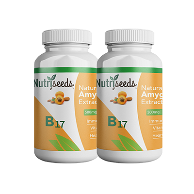 ( 2-Pack) 500mg Nutriseeds Natural Amygdalin Extract