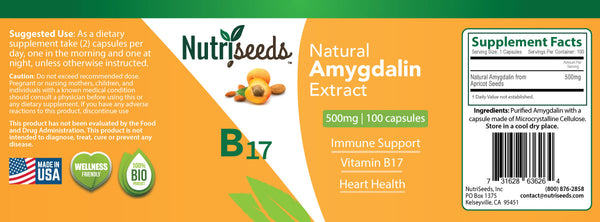 Natural Amygdalin Extract 500mg