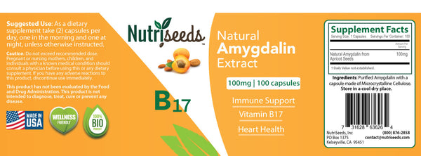 Natural Amygdalin Extract 100mg