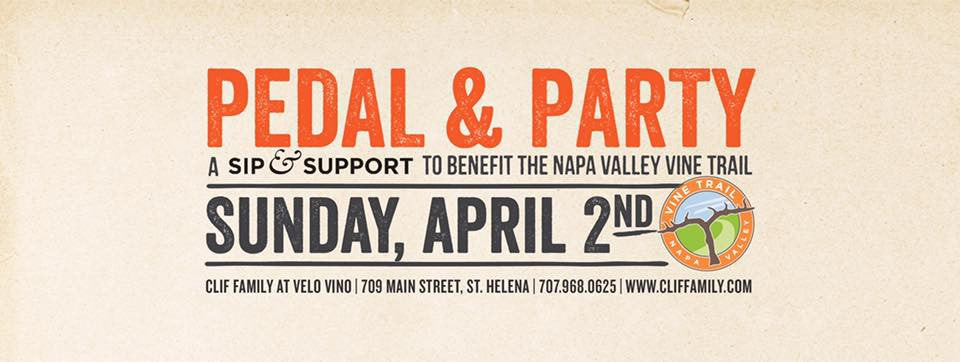 Pedal & Party: Sip & Support To Benefit the Napa Vine Trail