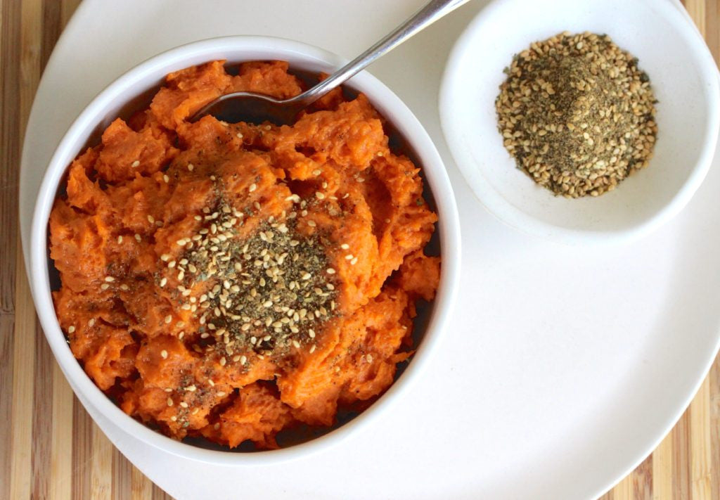 Mashed Sweet Potatoes with Dukkah