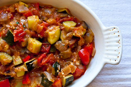 Ratatouille and Goat Cheese