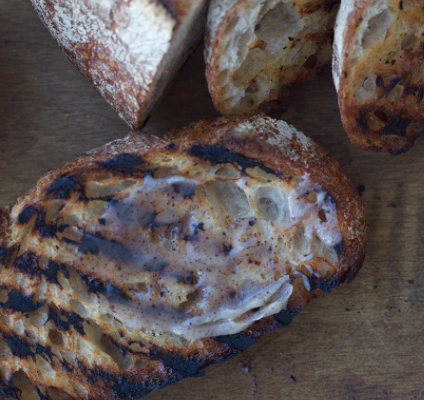 Grilled Sourdough Bread with Brown Butter