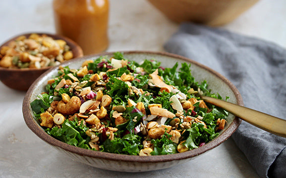 """Firecracker"" Winter Green Salad with Power Nut and Seed Mix"