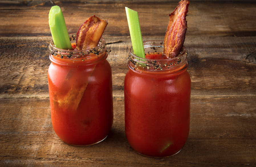 Wasabi Salted Black Pepper Bacon Bloody Mary's