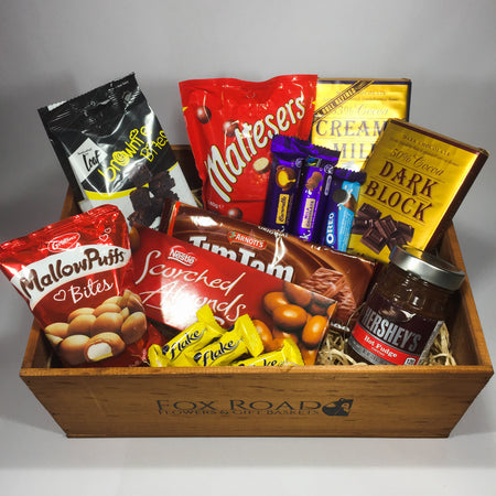 chocolate gift hamper with Wellington delights