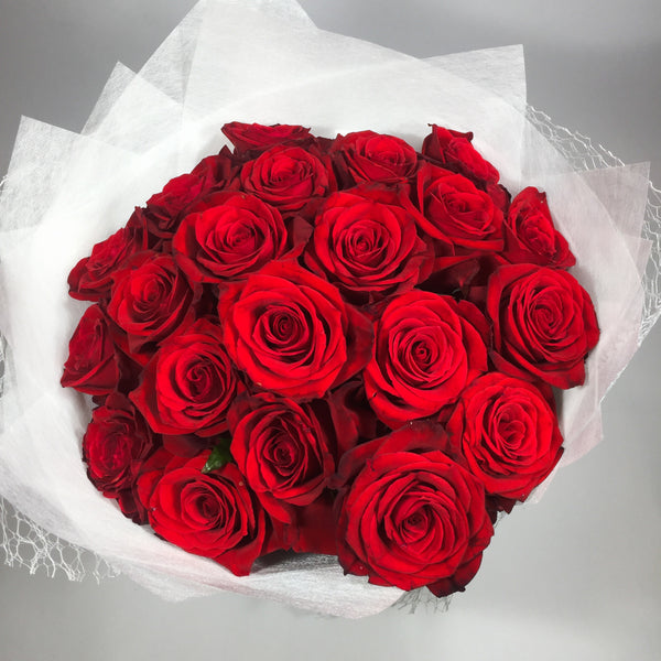 bouquet of twenty red roses
