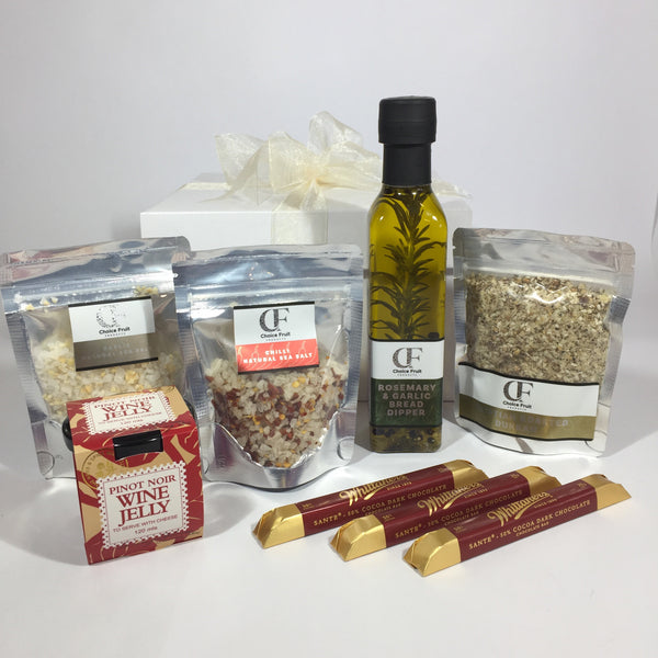 Sea salt with rosemary bread dipper gift hamper