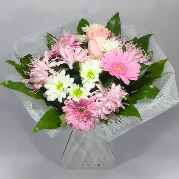Roses, gerberas and pink flowers in Lower Hutt Florist