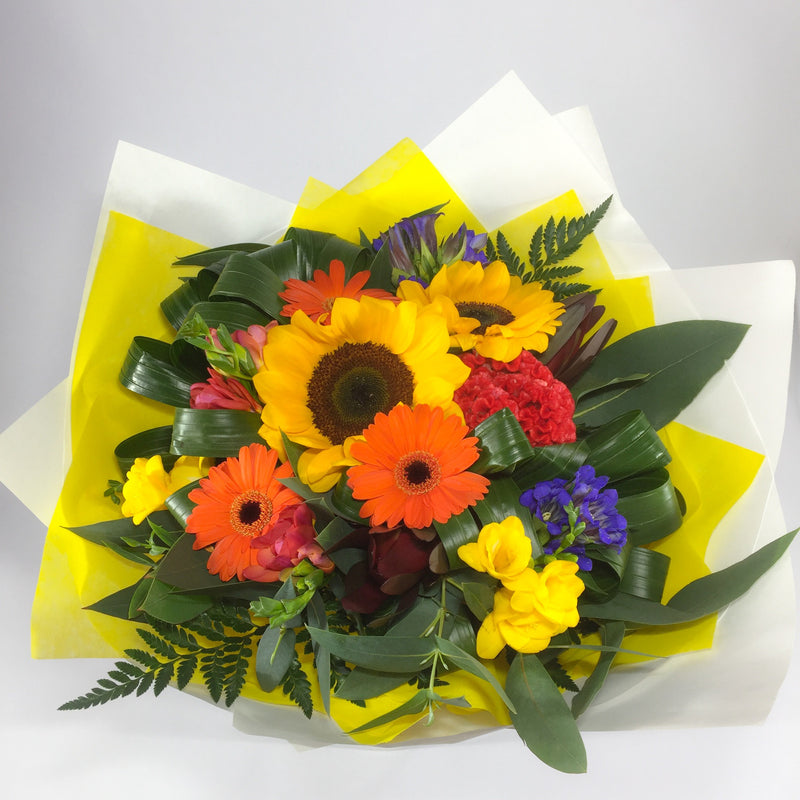 Colourful Flowers in a Bouquet